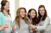 Bride and Bridal Party toast
